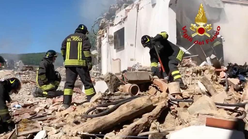 esplosione di una casa a Greve in Chianti