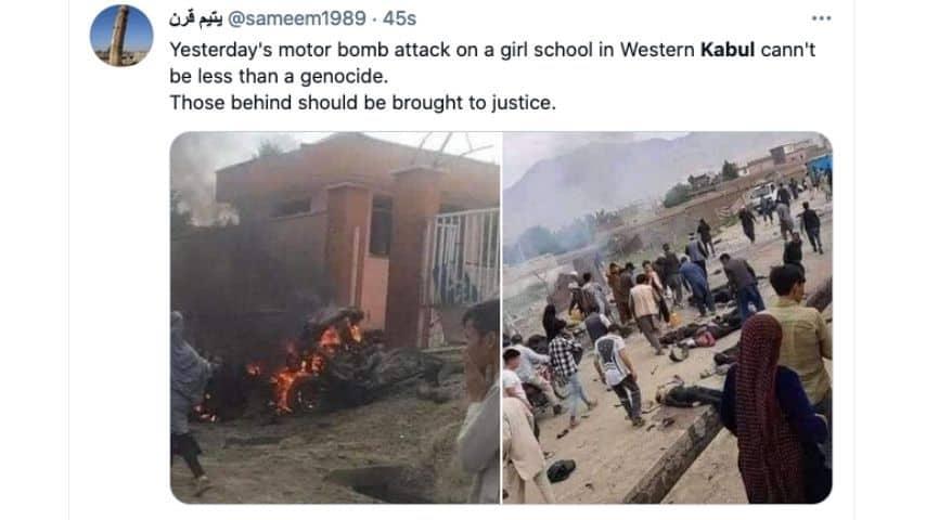 Le immagini drammatiche dell'esplosione a Kabul