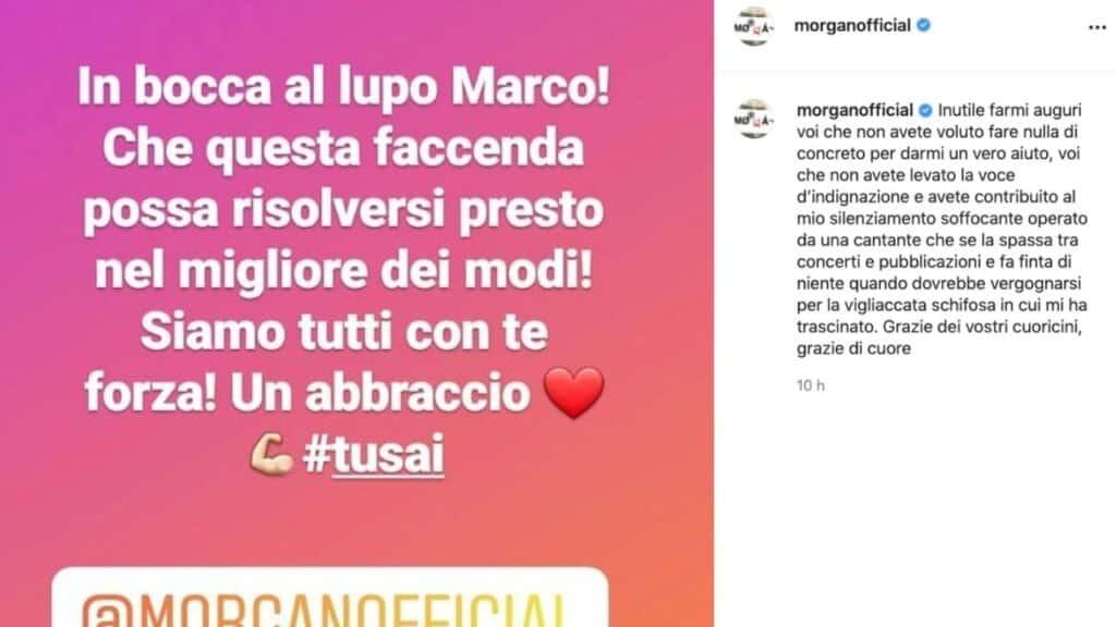 Morgan non ci sta e reagisce immediatamente innanzi alla richiesta di risarcimento presentata da Bugo per la squalifica dal Festival di Sanremo nel 2020.