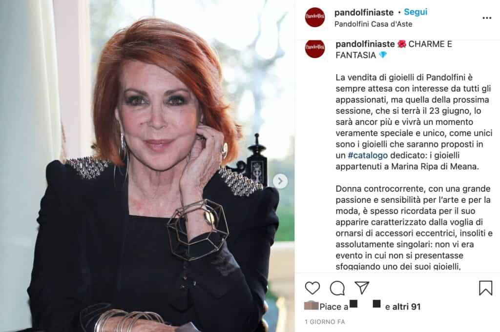 Il post di Pandolfini per l'asta dei gioielli