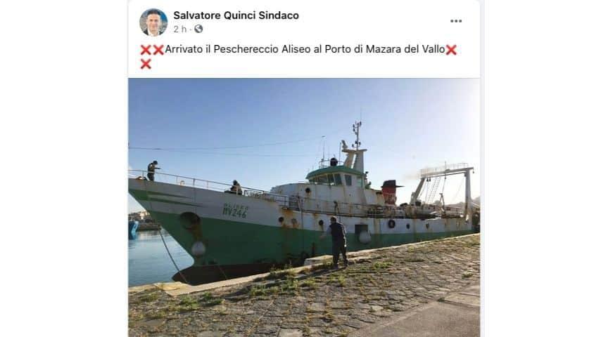 il post del sindaco di Mazara del Vallo