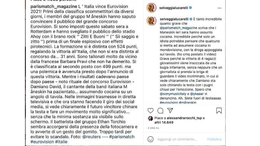 Selvaggia Lucarelli contro Paris Match