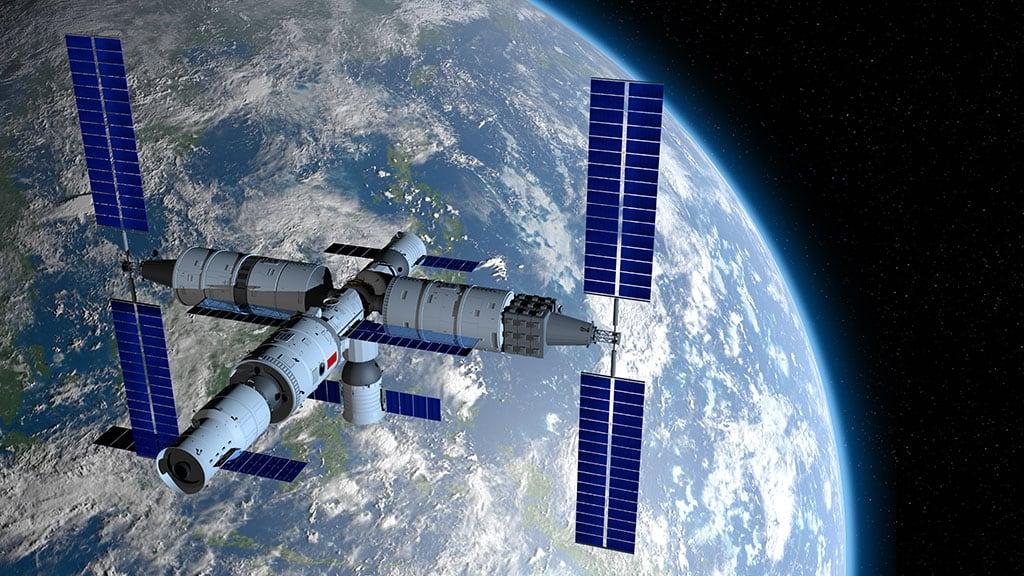 stadio del razzo cinese per la stazione spaziale Tiangong in caduta sulla Terra