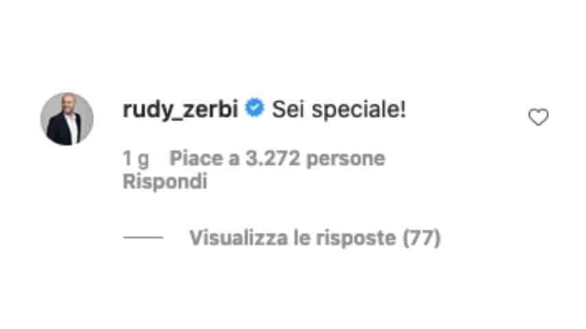 La risposta di Rudy Zerbi