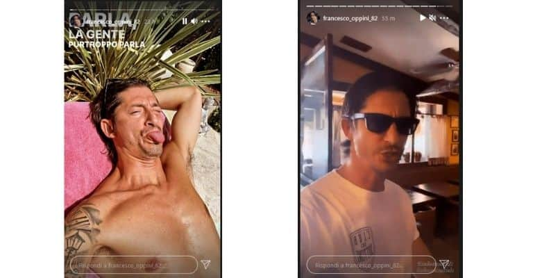 Francesco Oppini stories Instagram