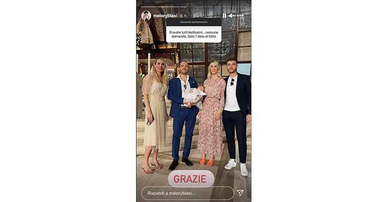 Instagram Story di Melory Blasi