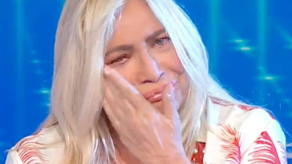 Mara Venier in lacrime a Domenica In