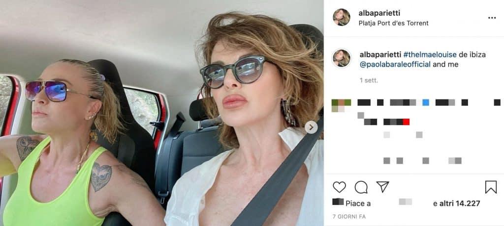 Paola Barale e Alba Parietti a Ibiza