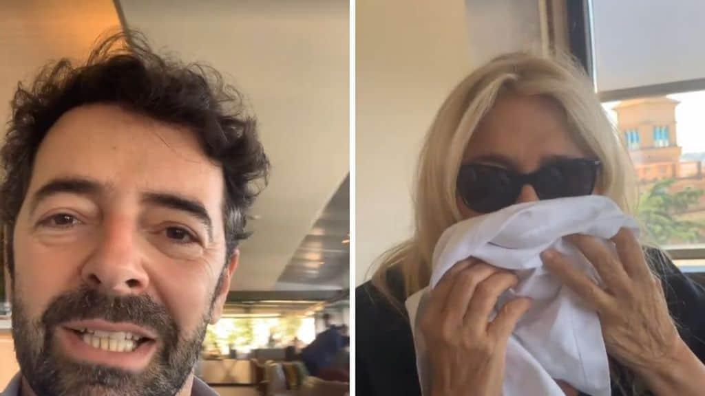 Mara Venier e Alberto Matano insieme a pranzo