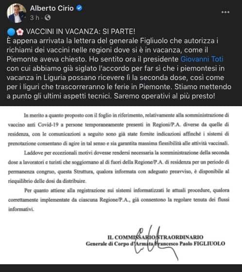 Alberto Cirio fb