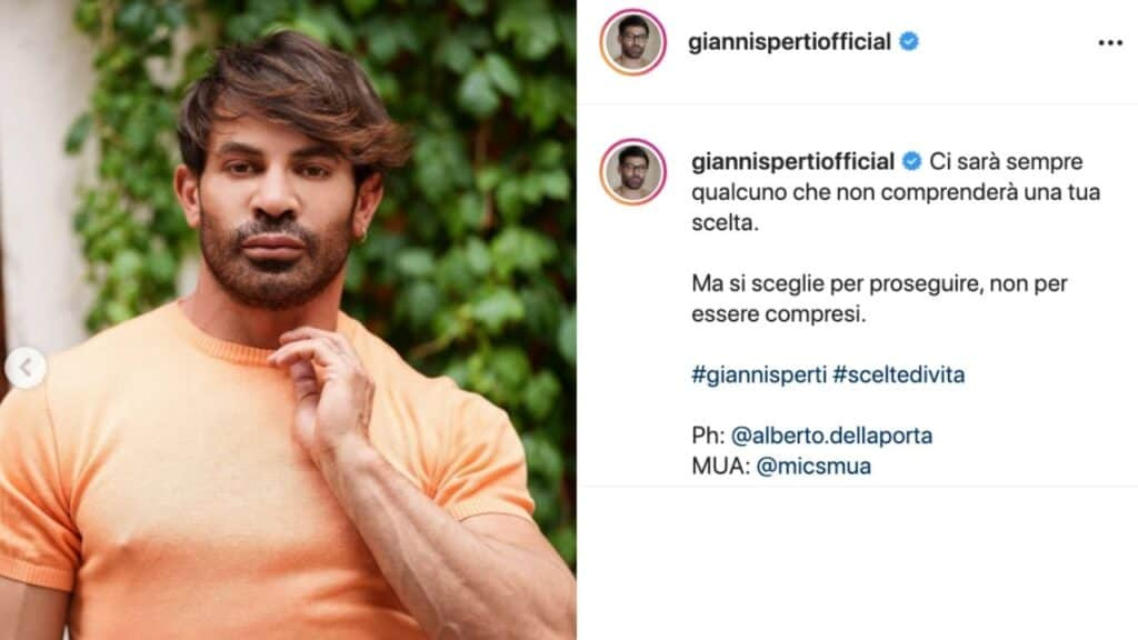 Gianni Sperti, l'ultimo scatto su Instagram collezione critiche. Lo sfogo dell'opinionista: