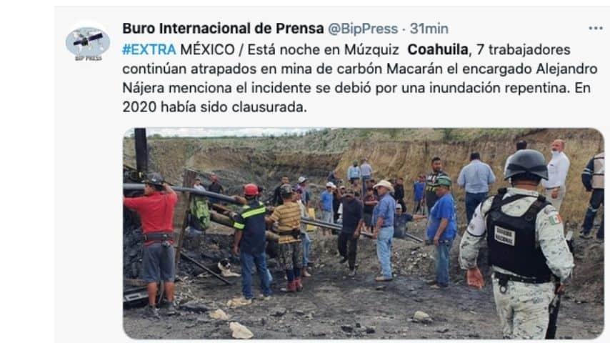 La minera crollata in Messico