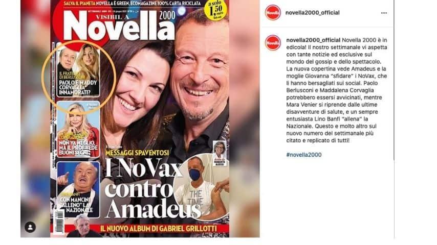 Il post di Novella 2000 su Maddalena Corvaglia e Paolo Berlusconi