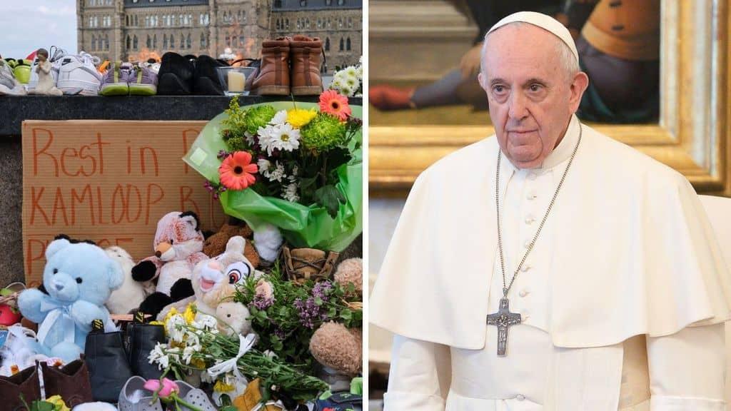 Papa Francesco parla dei resti di bambini trovati in Canada