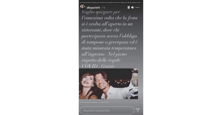 Alba Parietti critica covid