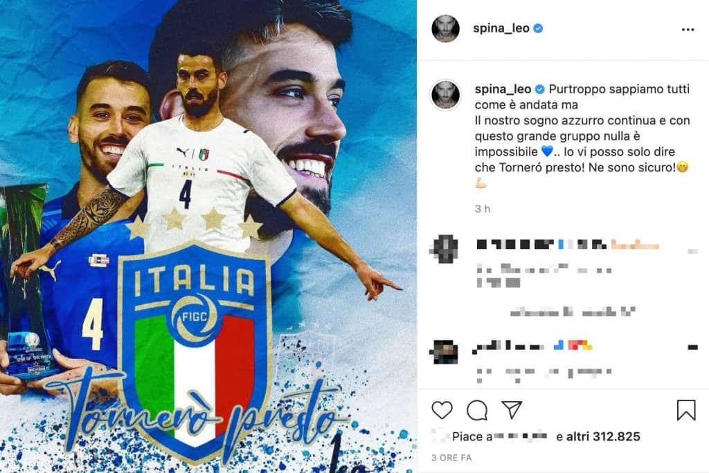 Il post Instagram di Leonardo Spinazzola