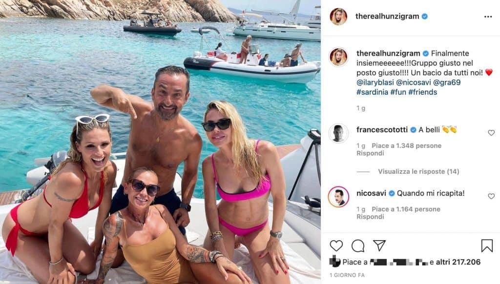 Post Instagram di Michelle Hunziker