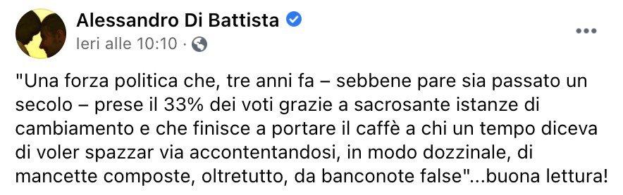 L'intervento di Alessandro Di Battista sulla riforma della giustizia
