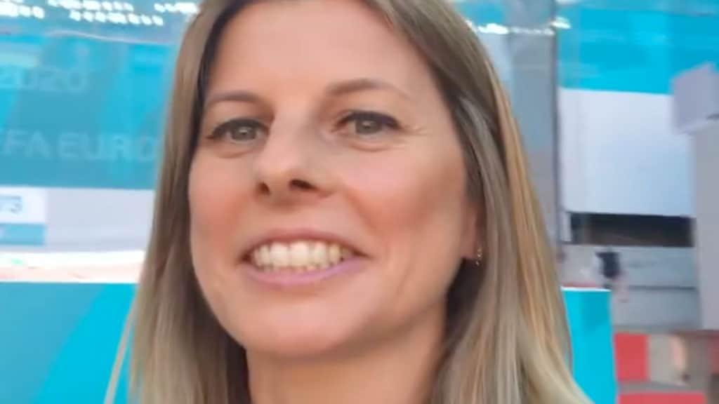 Katia Serra telecronista alla finale degli Europei di calcio