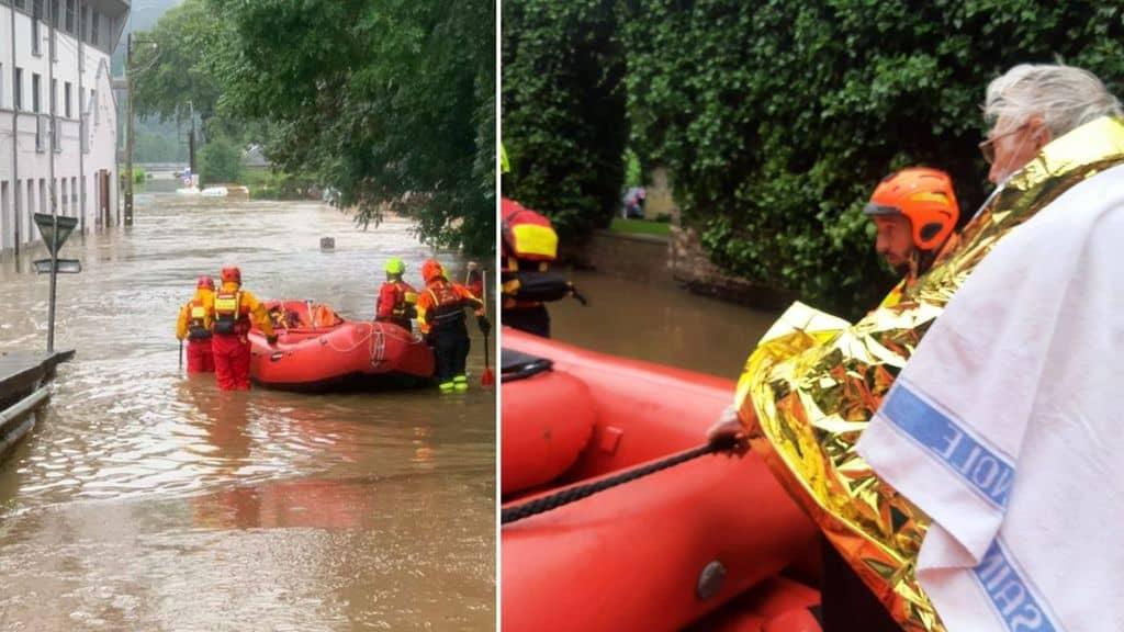 soccorsi durante le alluvioni