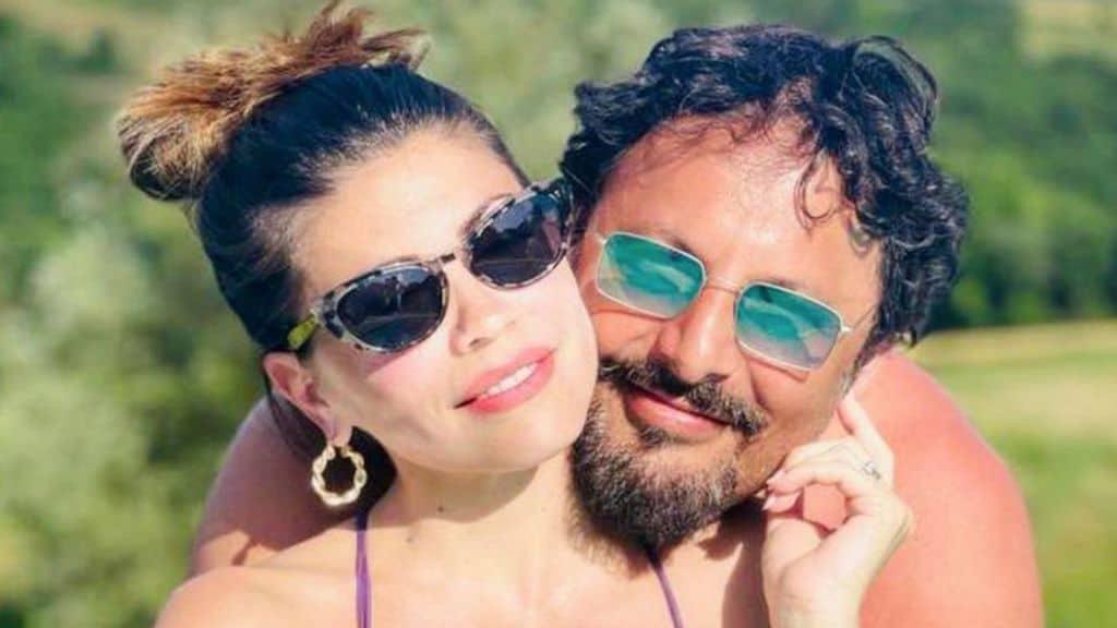 Flora Canto e Enrico Brignano genitori