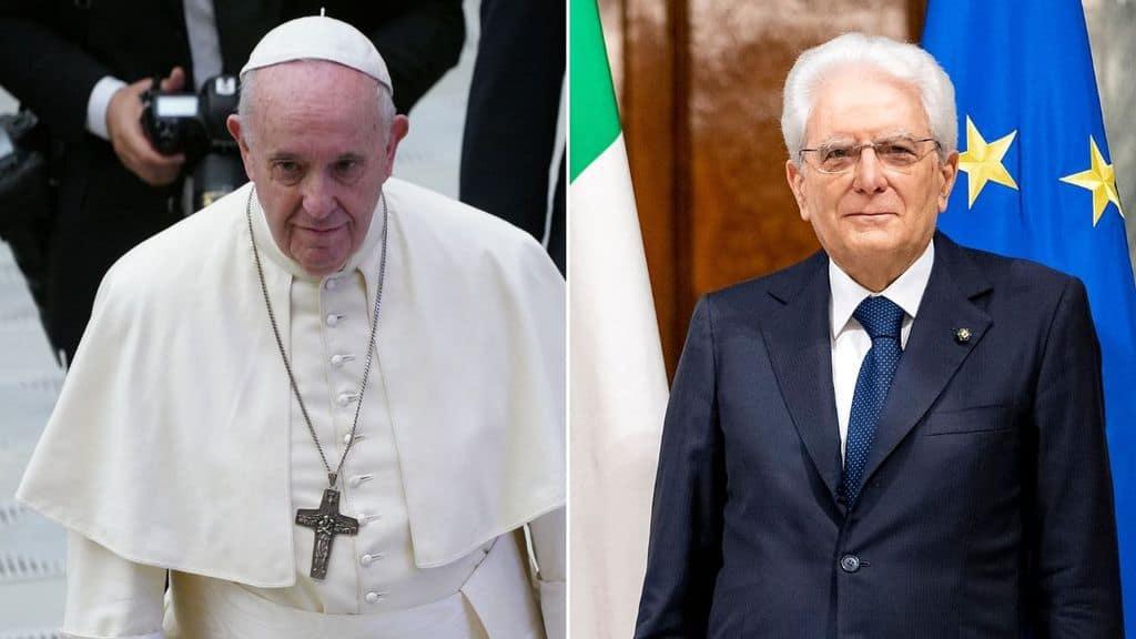 sergio mattarella e papa francesco
