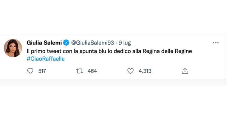 tweet di Giulia Salemi