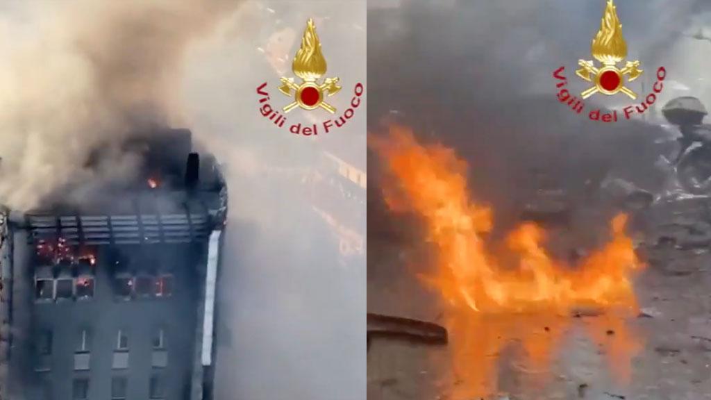 Incendio in un palazzo di 15 piani a Milano, il video dall'elicottero e il racconto di alcuni testimoni