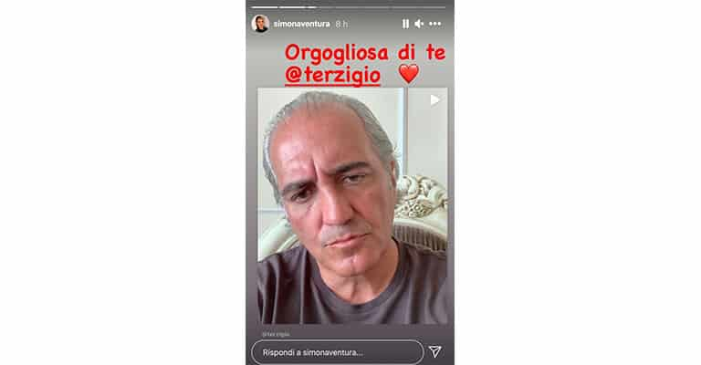 Instagram Story di Simona Ventura