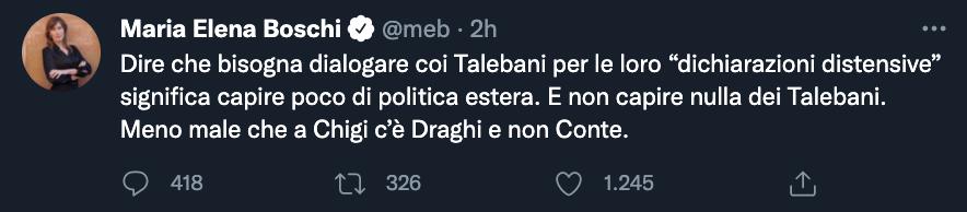 Tweet di Maria Elena Boschi
