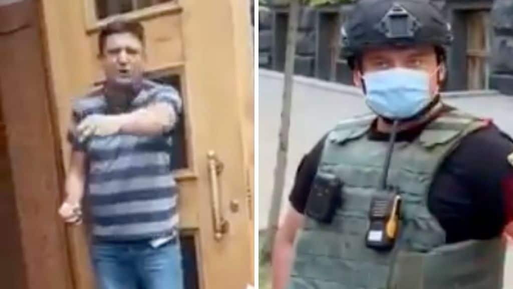 uomo armato di granata irrompe nella sede del governo ucraino