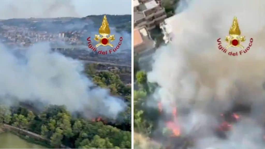 Pescara: incendi dolosi