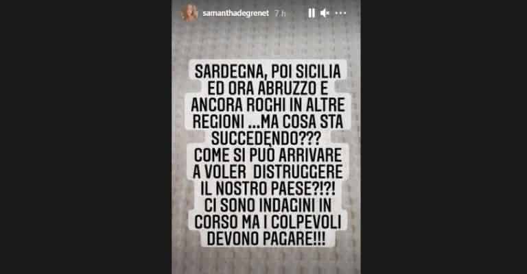 samantha-de-grenet-incendi-italia-instagram