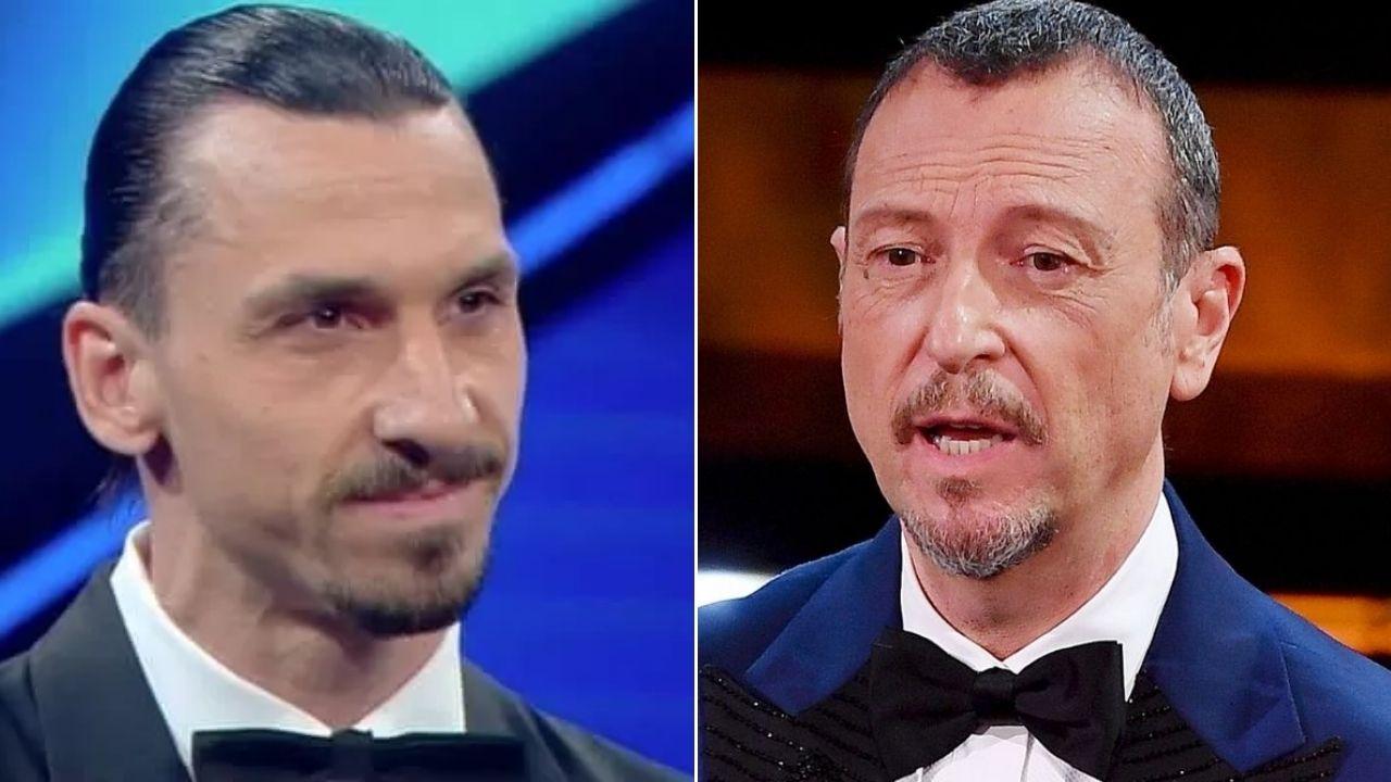 Zlatan Ibrahimovic al Festival di Sanremo 2022: il calciatore svedese provoca Amadeus con un video
