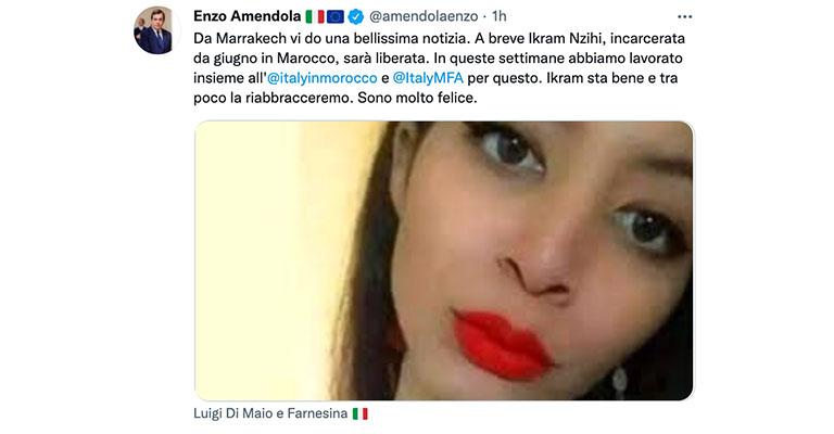 Tweet di Enzo Amendola