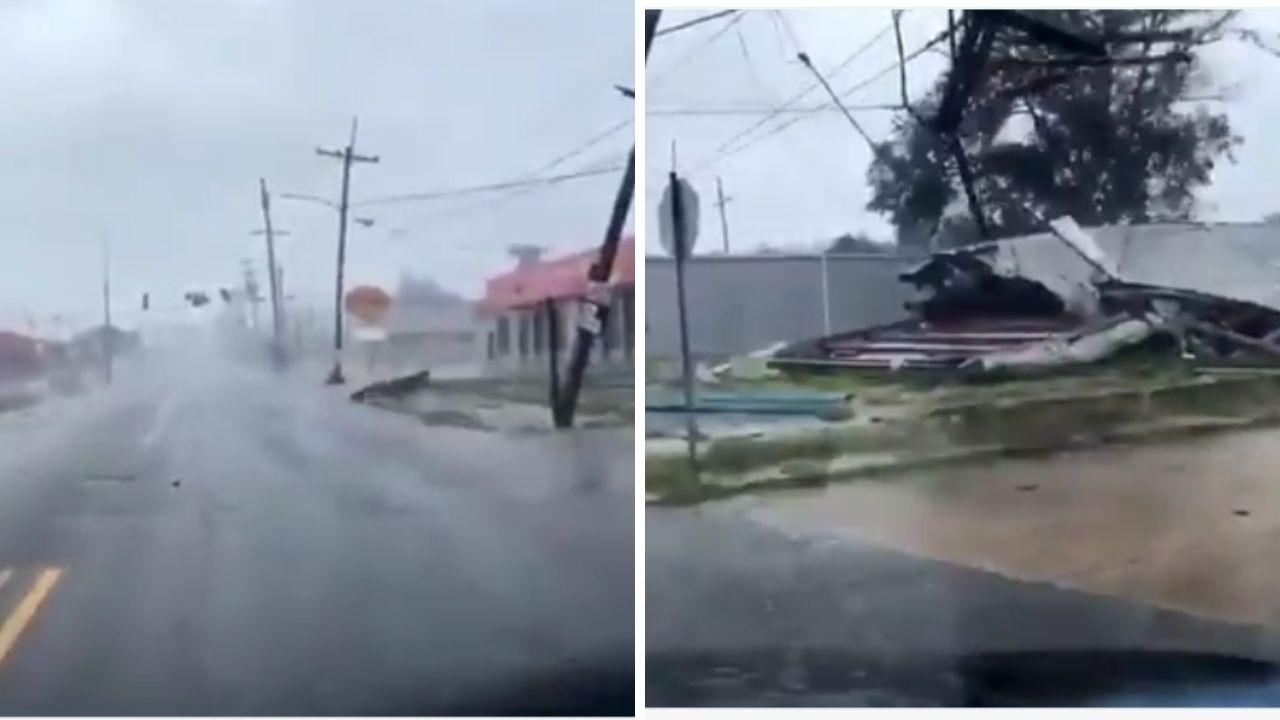 L'uragano Ida ha raggiunto le coste di Louisiana. Venti forti, muri d'acqua, tetti scoperchiati: le immagini