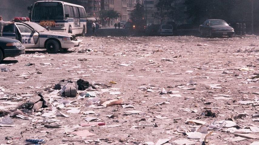 Alcuni scatti da Ground Zero l'11 settembre 2001 Immagine di repertorio