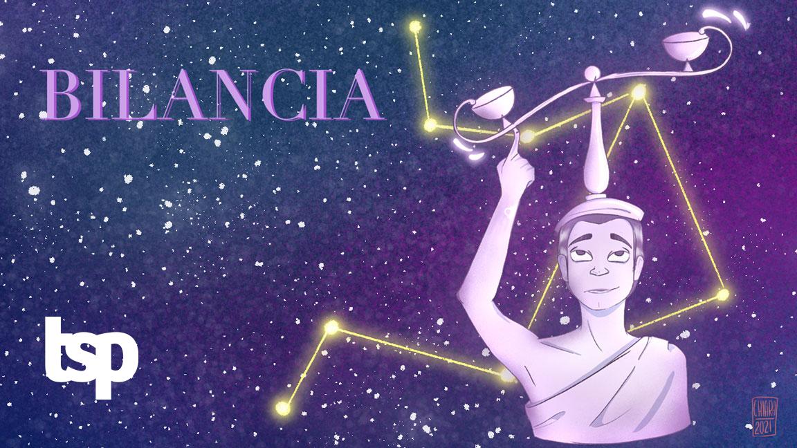 Bilancia: segno zodiacale. Illustrazione di Chiara Rocchi