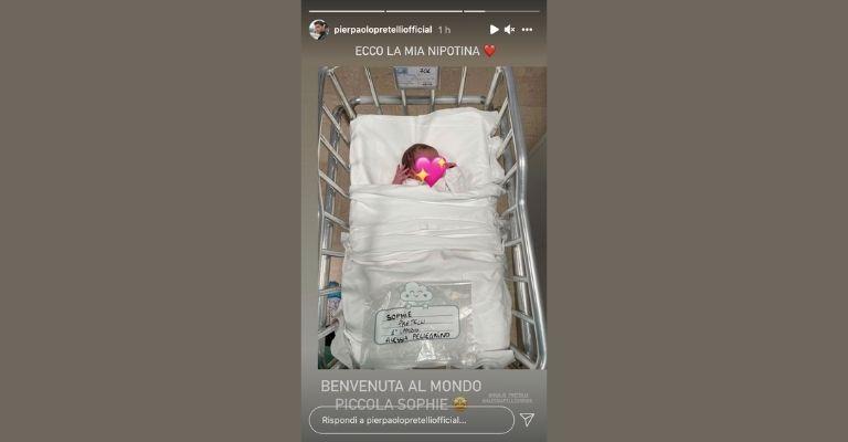 Pierpaolo-Pretelli-diventa-zio-Instagram-stories