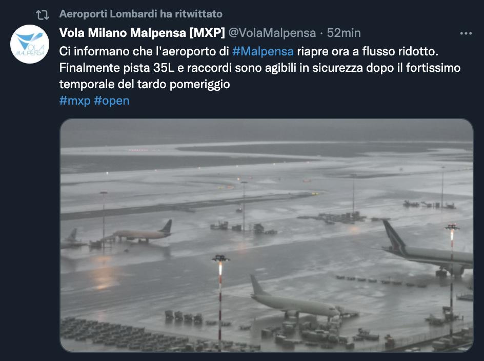 Retweet di Milano Malpensa