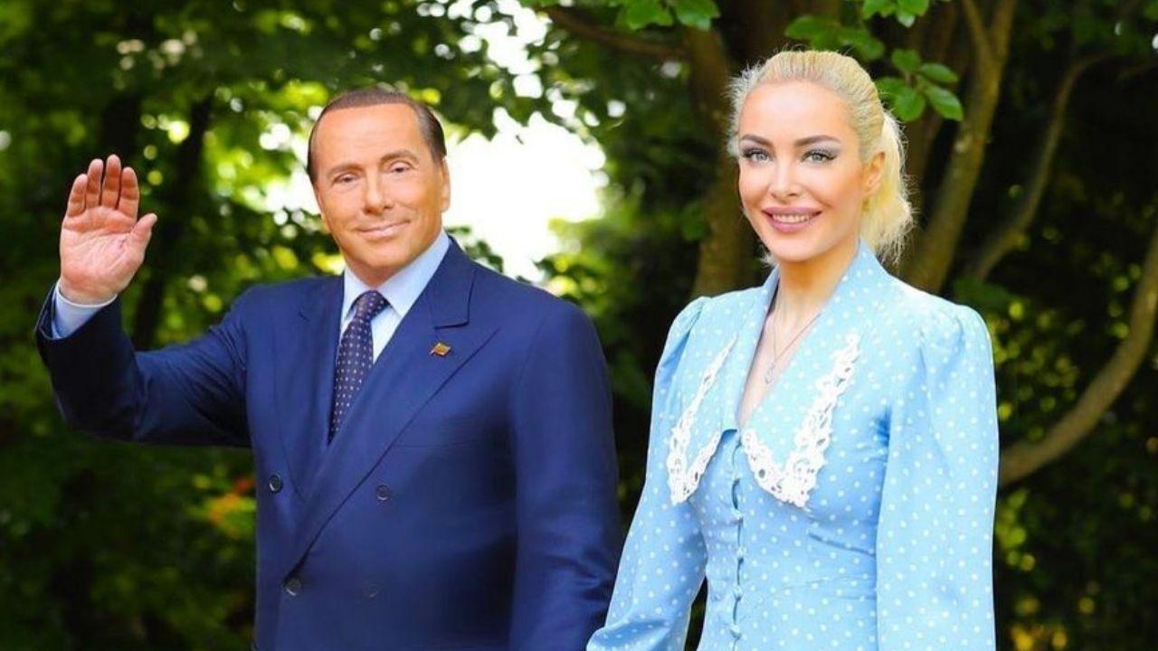"""Marta Fascina, la foto della fidanzata di Berlusconi per il compleanno scatena l'ironia: """"Ken e Barbie"""""""