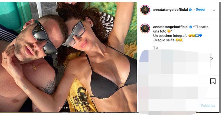 foto di Anna Tatangelo e Livio Cori su Instagram