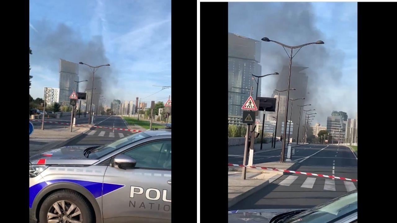Grave incendio a Parigi, automobilisti evacuati dal Pont National. Raccomandata prudenza. Le immagini