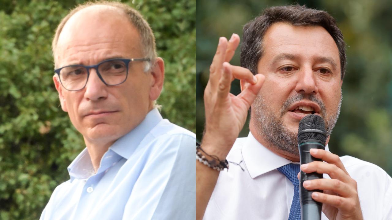 Scontro a distanza tra Enrico Letta e Matteo Salvini: ancora tensione su Green pass e obbligo vaccinale