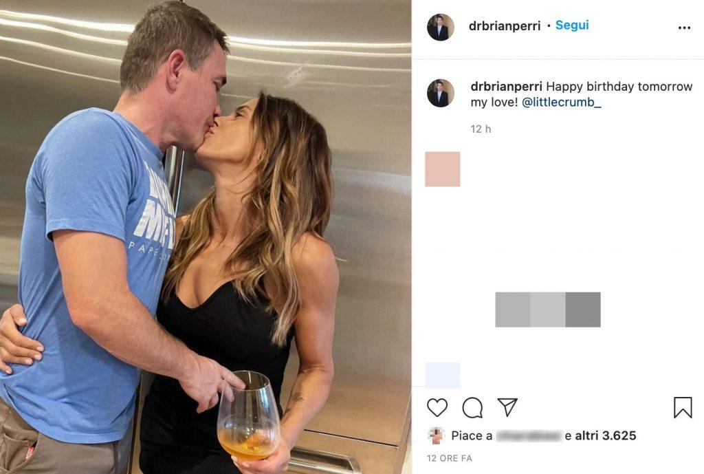 Il post Instagram di Brian Perri per il compleanno di Elisabetta Canalis