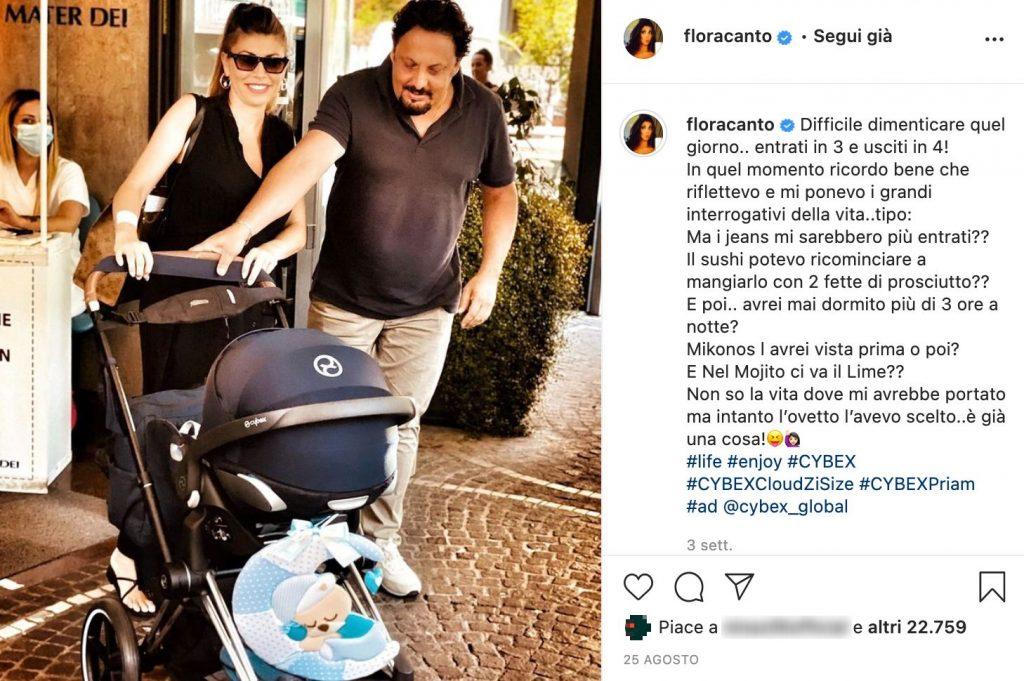 Il post Instagram di Flora Canto