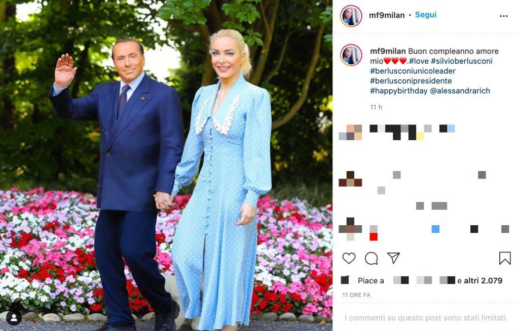 Il post Instagram di Marta Fascina