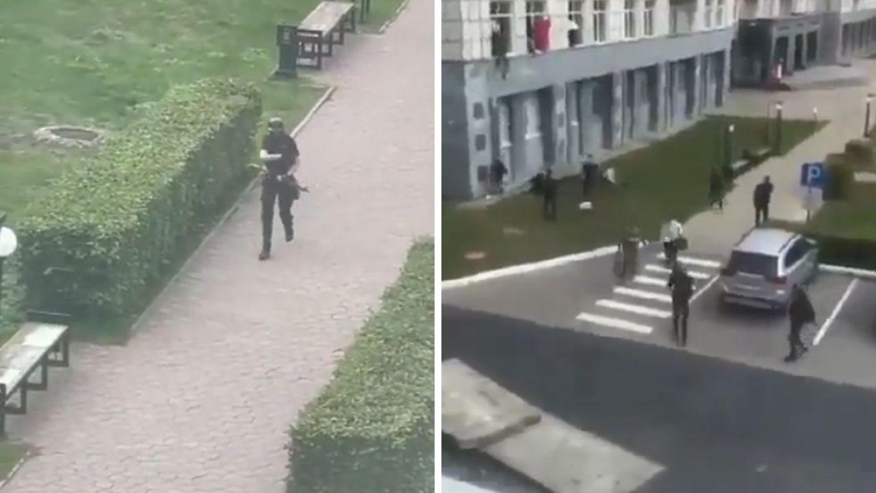 Sparatoria in una università a Perm, ci sono almeno 8 morti. Studenti scappano dalle finestre. Le immagini