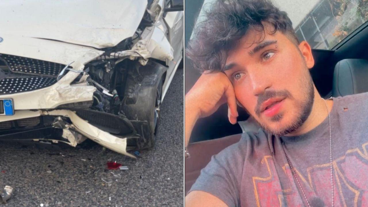Valentino di Matt&Bise, grave incidente in auto con la fidanzata incinta: le loro condizioni dopo lo schianto