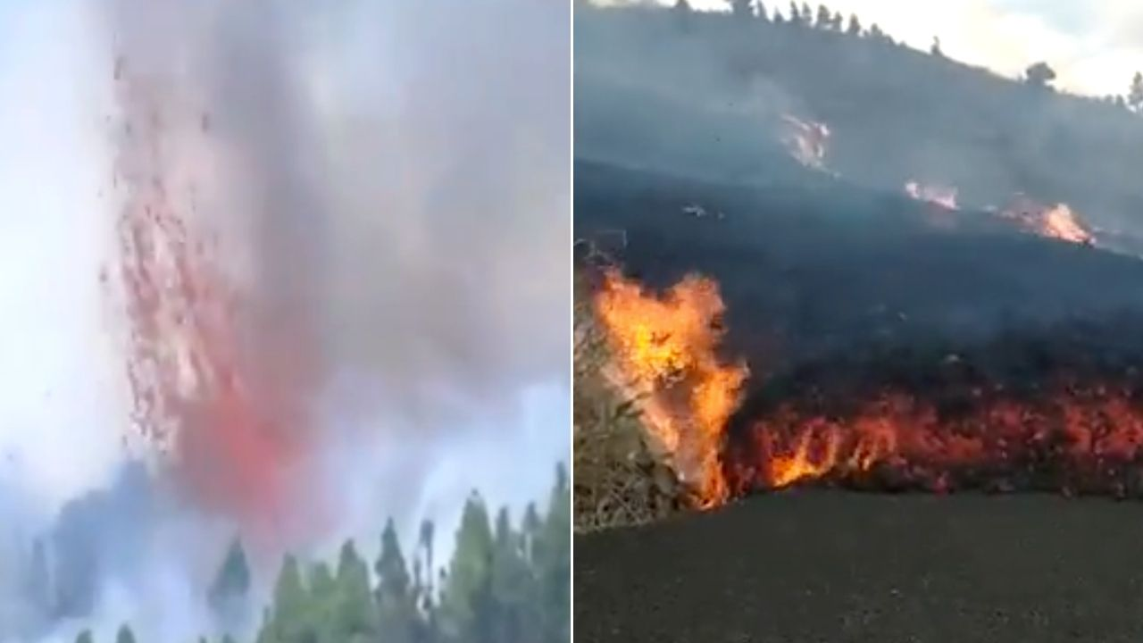 Erutta il vulcano Cumbre Vieja: terremoti e  strade in fiamme. Le immagini e i video da La Palma